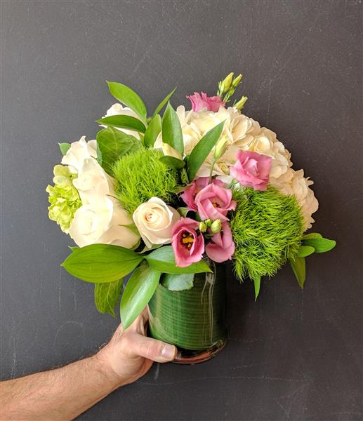 Pink and Green Posy
